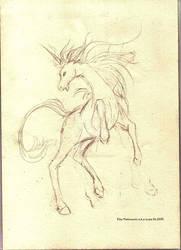 Last Unicorn sketch by eikomakimachi