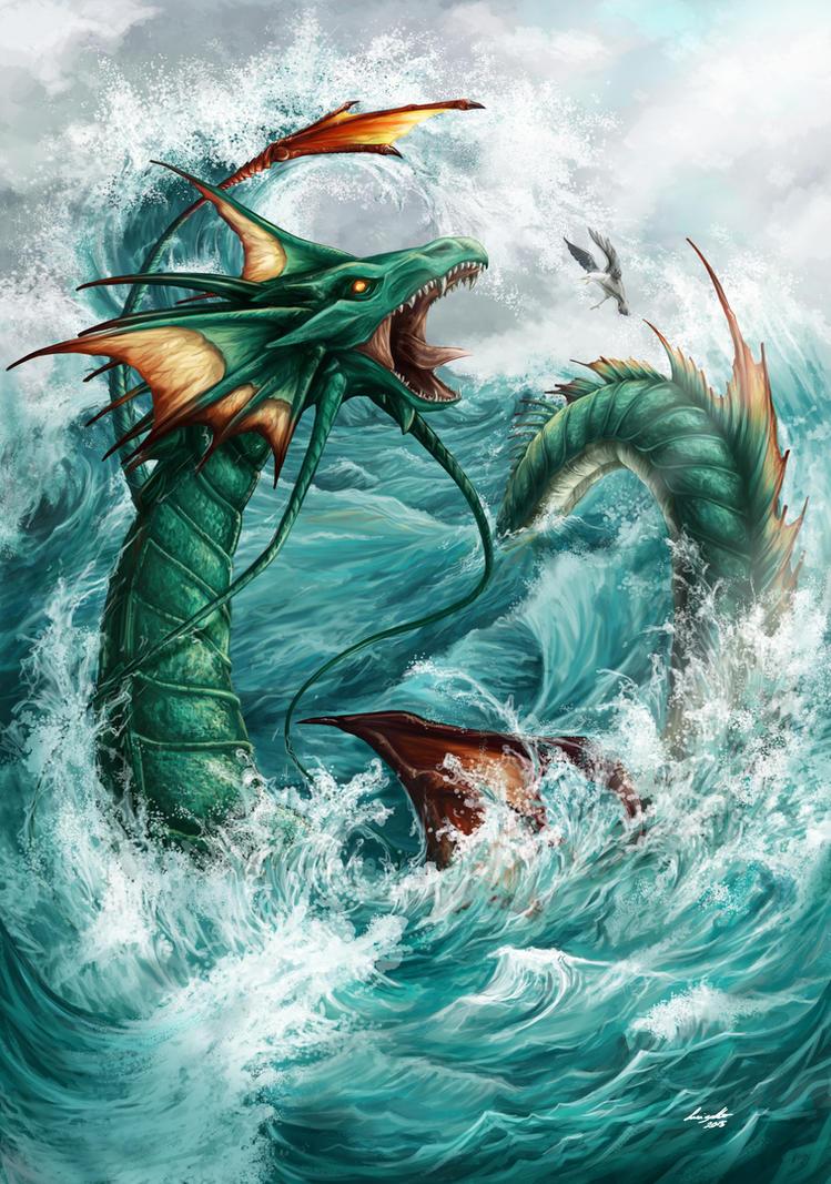 Outcast Odyssey Sea Serpent by eikomakimachi