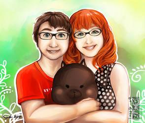Commission - Couple portrait by eikomakimachi