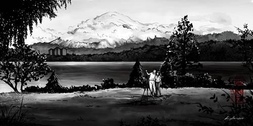 Commission - Vilarrica Chile by eikomakimachi