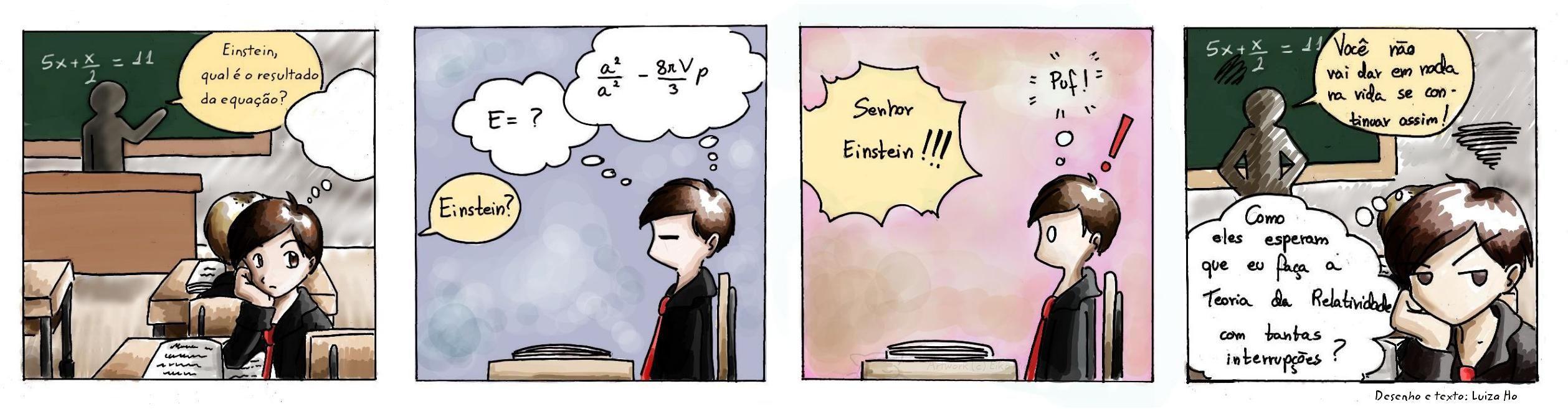 Einstein - Genius at school by eikomakimachi