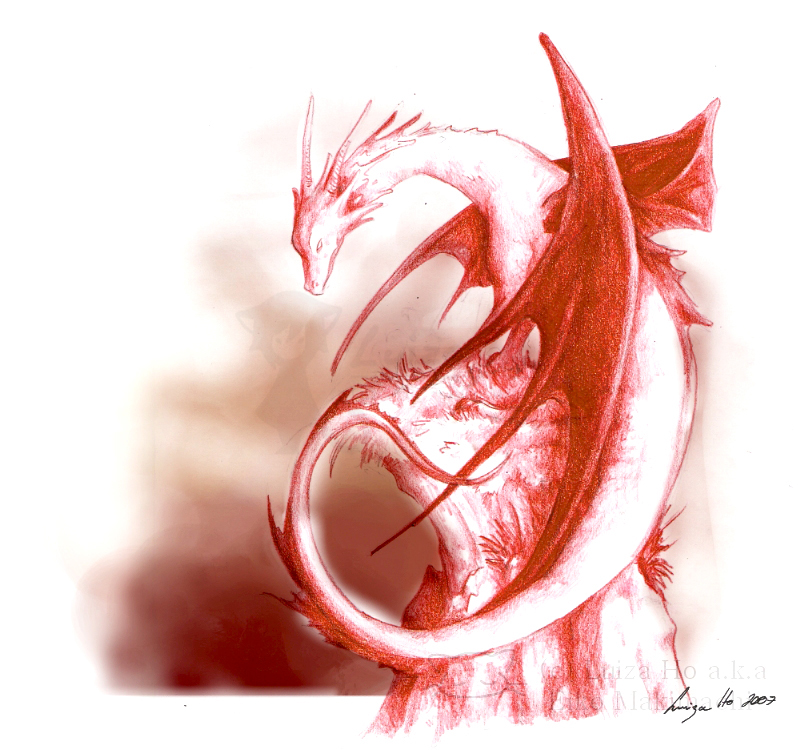 The red dragon Smaug by eikomakimachi