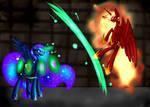 (MLP) Princess Luna Banishes Solar Flare (Redraw)