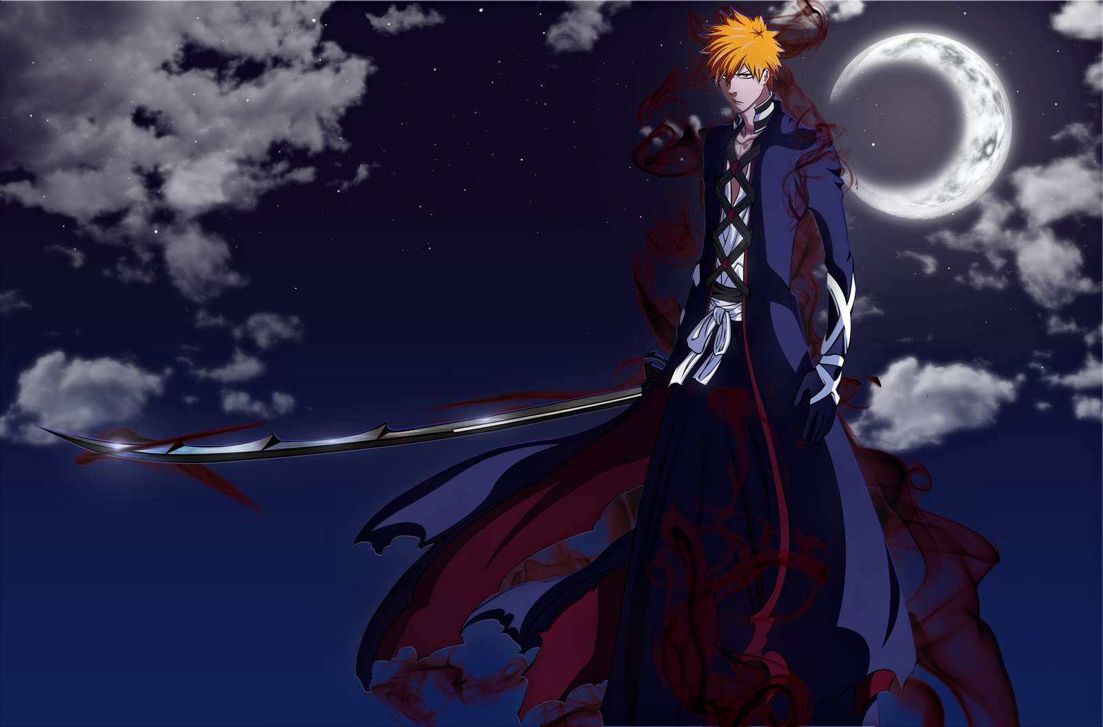 Bleach : Ichigo New Bankai by Yoruden on DeviantArt