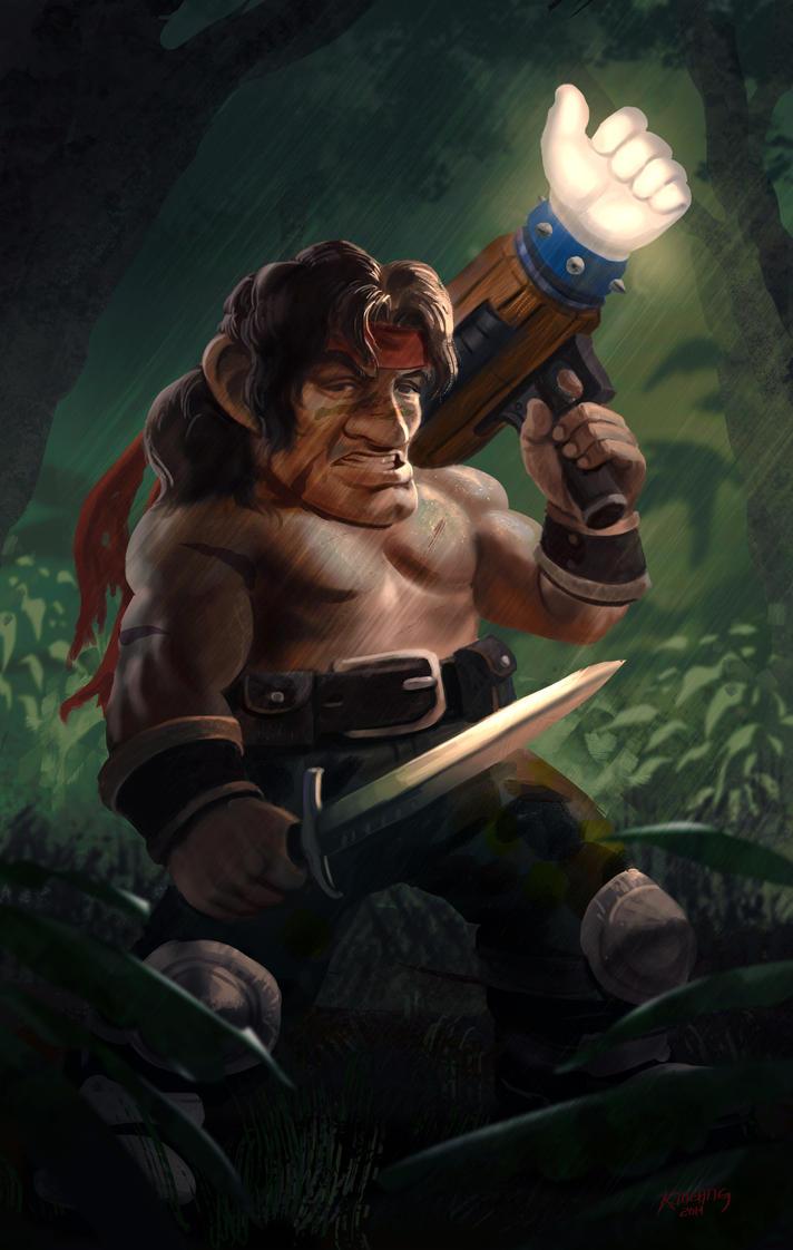 Commando Gnome by einhajar