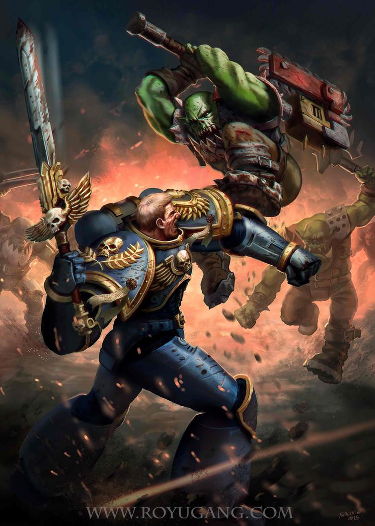 Warhammer Art Test by einhajar
