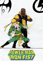 Iron Fist and Luke Cage REDESIGN by Julalesss