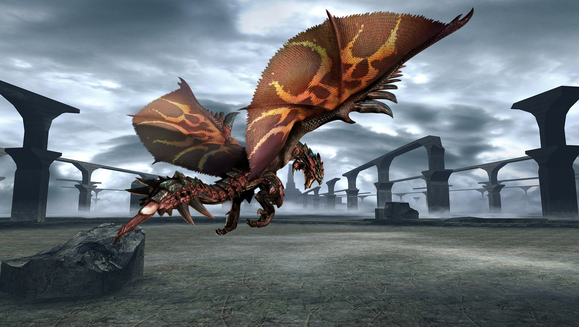 Dreadking Rathalos Background by The3nigma