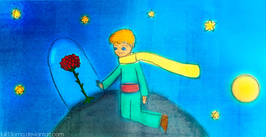 The Little Prince and his Rose by lulii13omg