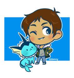 Lance and Vaporeon