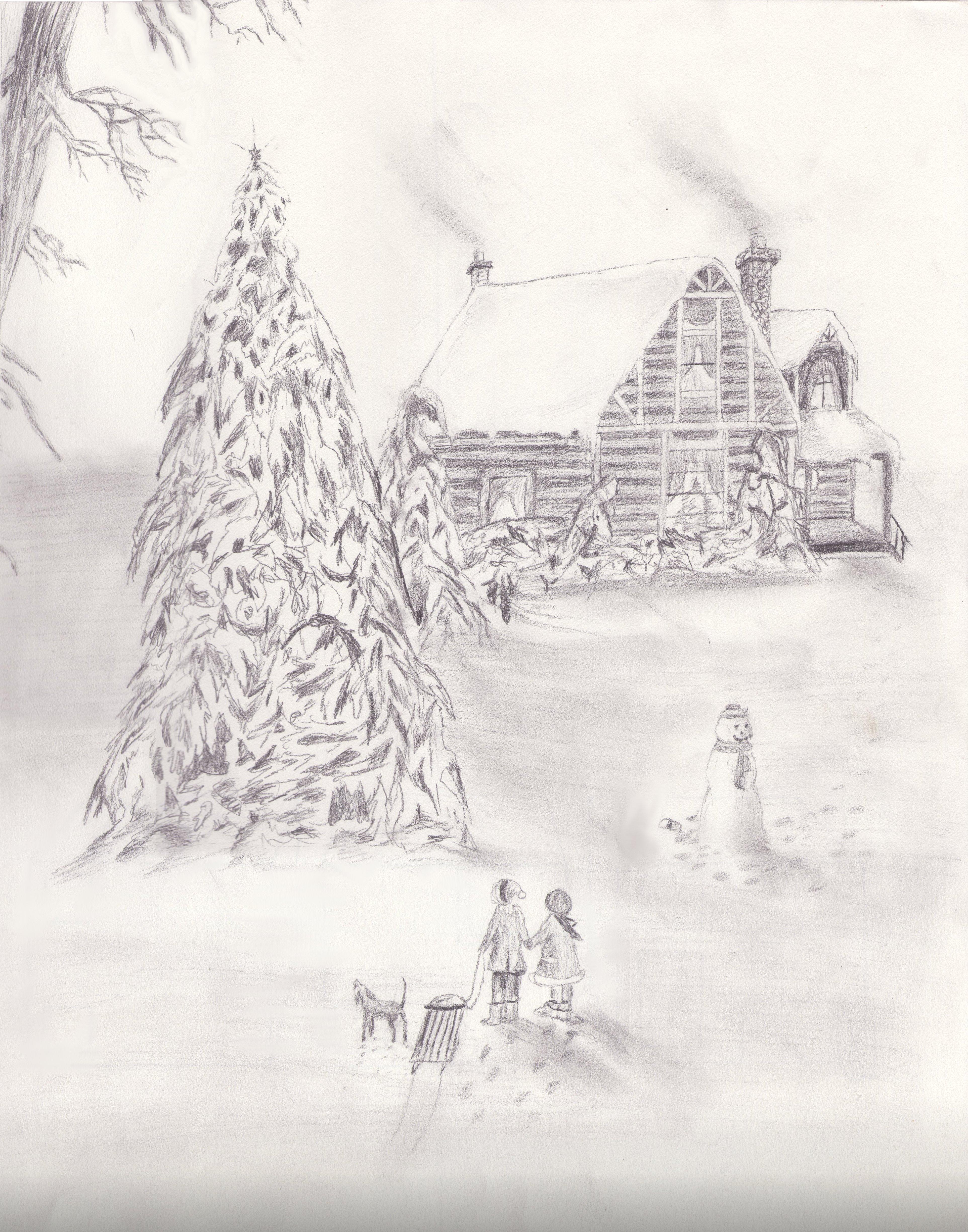 Christmas Scene by Fireater989 on deviantART
