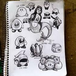 Kirby Doodles! 1/2 by Lazyass23