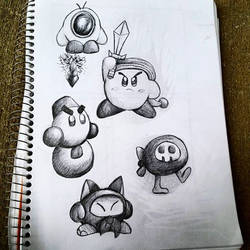 Kirby Doodles! 2/2 by Lazyass23