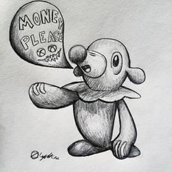 Popplio Fanart Z by Lazyass23