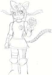 Drawn catgirl antivirusprogram by metaporical-metalord