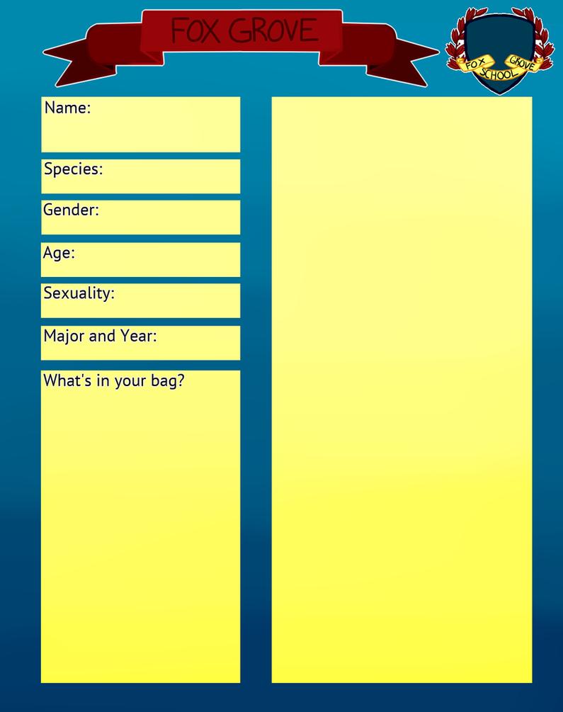 Fox grove character application by bittertail on deviantart for Craft fair application template