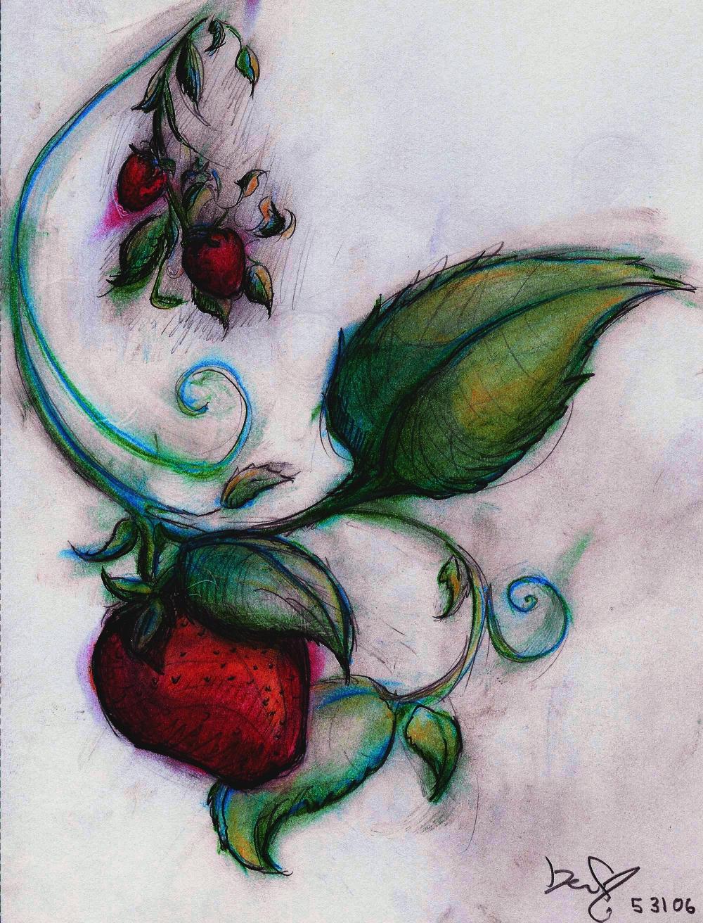 Strawberries by aplesandoranjes