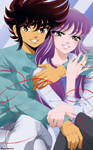 CM - Seiya saori married couple