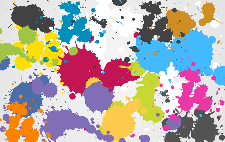 Paint splatter wallpaper by ibnadem