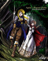 Agrias and Princess Ovelia by johnjoseco