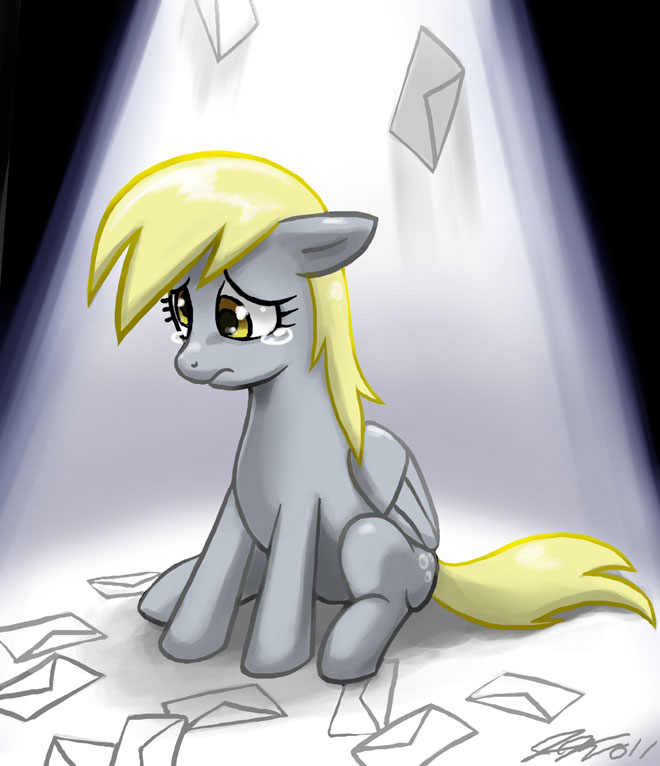 Sad Derpy is Sad by johnjoseco