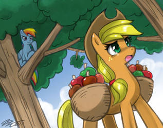 Rainbow Yonder Apple by johnjoseco