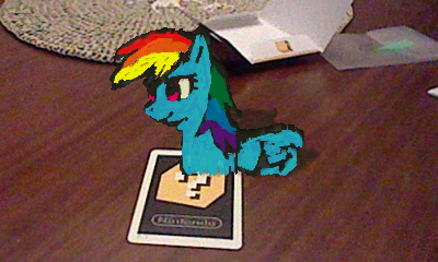 3DS AR Rainbow Dash by johnjoseco