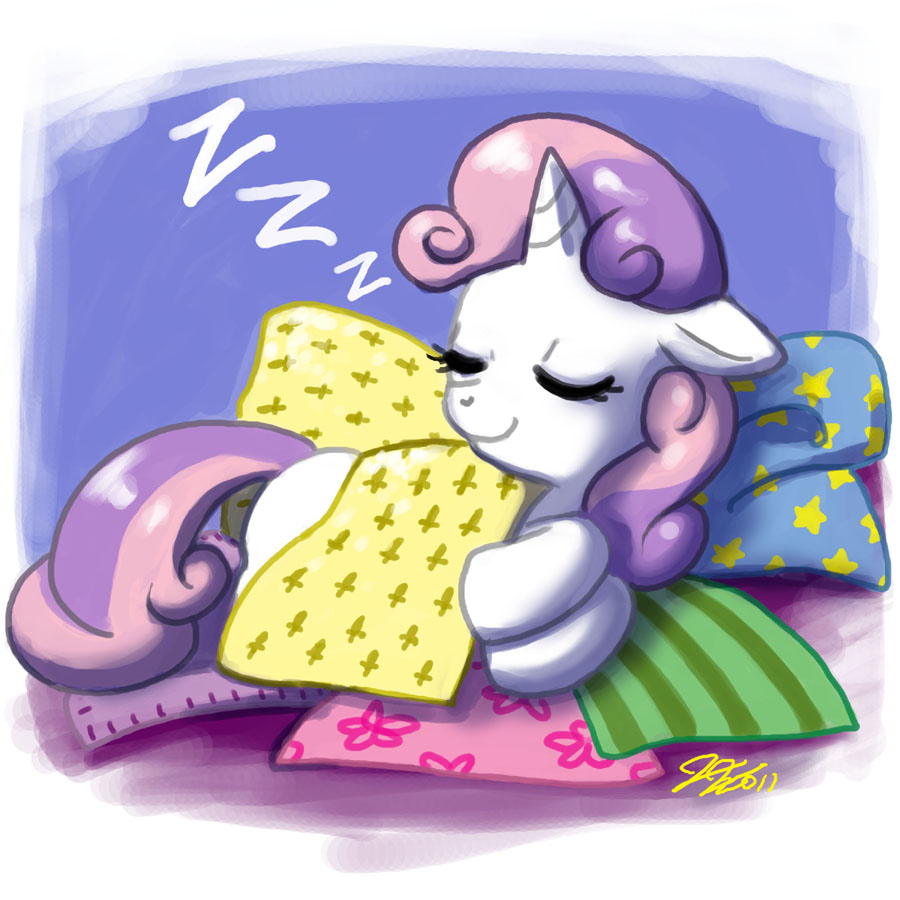 Sleeping Sweetie Belle by johnjoseco