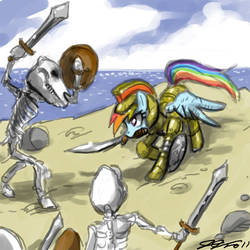 Dash versus the Skeletons by johnjoseco