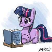 Reading Infinite Skies by johnjoseco