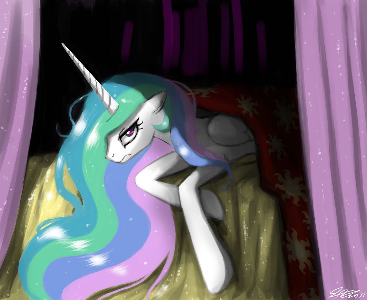 Celestia in No Mood for Songs