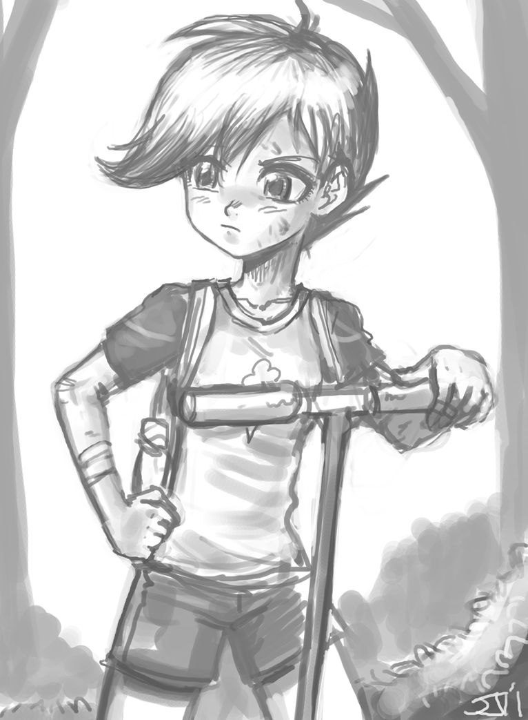 Human Scootaloo Sketch by johnjoseco