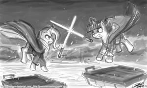 Jedi Battle Trixie vs Twilight
