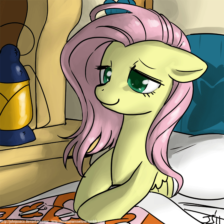 Good Morning Fluttershy by johnjoseco