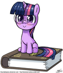 Filly Twilight with Glasses