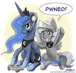 Gamer Luna and Woona PWNED