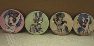 Vinyl Scratch, Octavia, and Zecora buttons