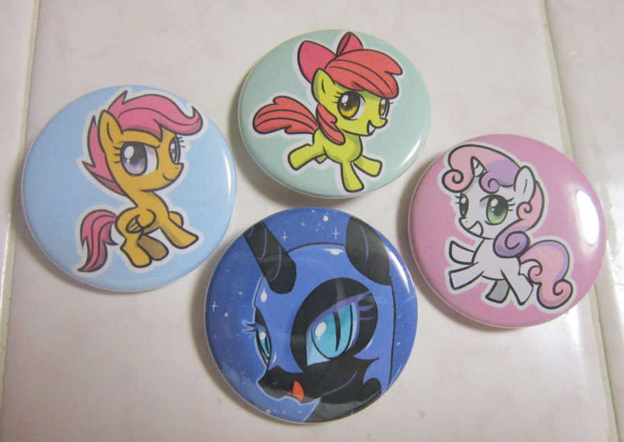Nightmare Moon and CMC Buttons by johnjoseco