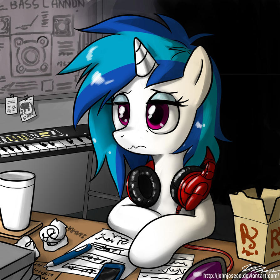Good Evening Vinyl Scratch by johnjoseco