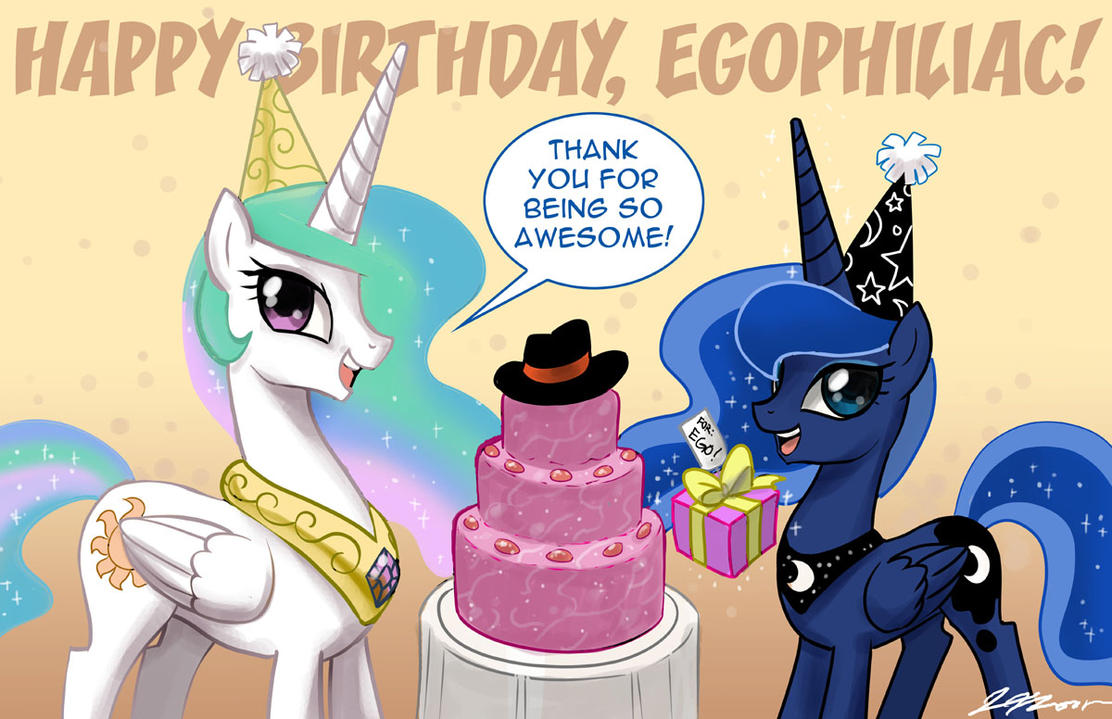 Happy Birthday Egophiliac by johnjoseco