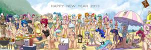 Super Happy Fun Times on Bikini Beach 2013 by johnjoseco
