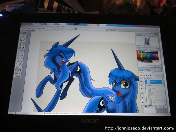 Wet Mane Luna Print for EQLA 2013 by johnjoseco