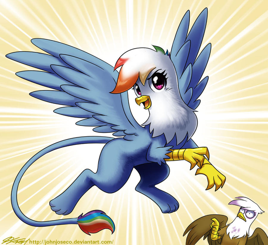 Rainbow Dash the Griffon