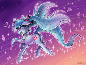 Hatsune Miku the Pony
