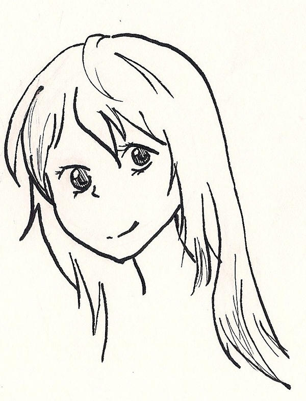 how to draw anime girl with long hair