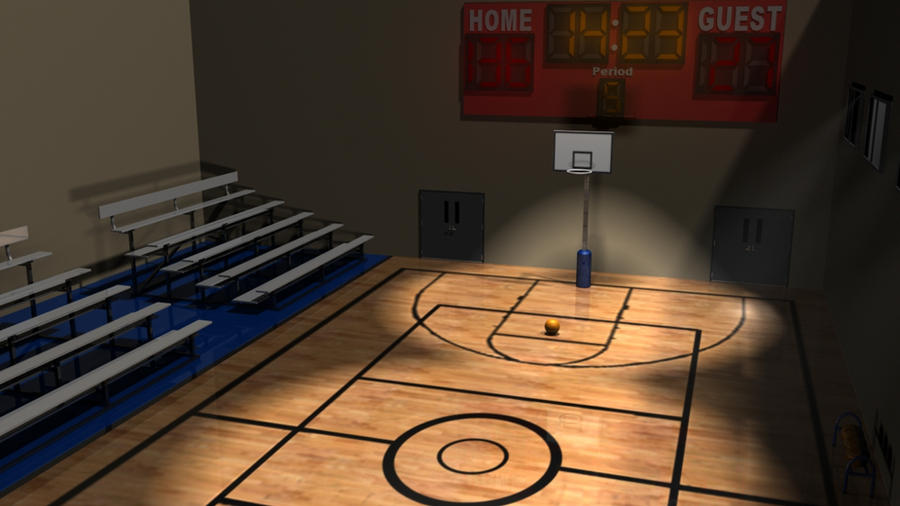 Indoor basketball court by animatorfox on deviantart for Indoor home basketball court cost