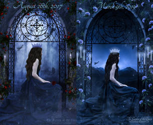 Before and after Remastered - Lady Freyja by Melanienemo