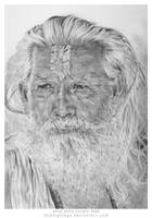 Indian Temple Caretaker by annesofielarsen