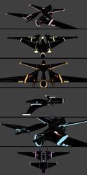 [TRONY] Mane6 Lightjets by SRicK91
