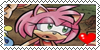 Amy Rose, stamp by HarukotheHedgehog